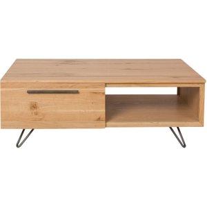 Oak Furniture Superstore Miles Oak And Metal Coffee Table Mi Ct