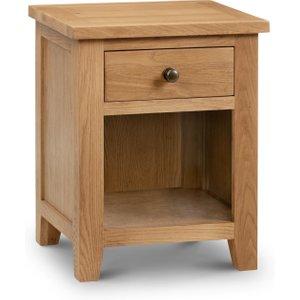 Oak Furniture Superstore Minnesota Oak 1 Drawer Bedside Chest Mar201, Oak