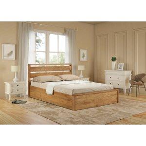 Oak Furniture Superstore Modena Oak Ottoman Bed MOD OAK