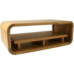 Oak Furniture Superstore Modern Oak Living Coffee Table With Shelf Oln12, Natural