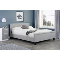 Oak Furniture Superstore Pennsylvania Grey Small Double Bed Strb4gry, Grey