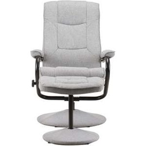 Oak Furniture Superstore Presley Swivel Chair & Footstool In Grey Memscgry, Grey