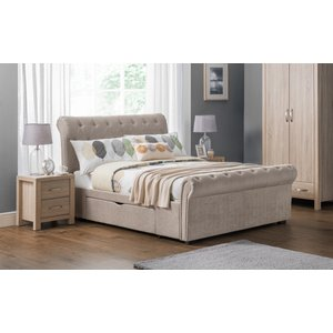 Oak Furniture Superstore Ravell 2 Drawer Super King Bed Rav025, Mink