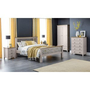 Oak Furniture Superstore Richmond Double Bed Hfe Ric401, Oak and Grey