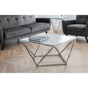 Oak Furniture Superstore River Octagonal Coffee Table Riv101, Clear