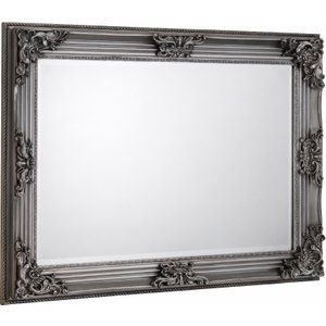 Oak Furniture Superstore Rococo Pewter Wall Mirror Mir003, Natural