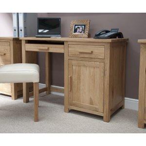 Oak Furniture Superstore Rohan Small Computer Desk OPUCDS, Oak
