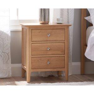 Oak Furniture Superstore Sadie Oak Large Bedside Table Sad Lbsc, Oak