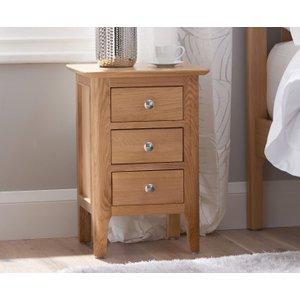 Oak Furniture Superstore Sadie Oak Small Bedside Table Mh Nt Sbsc, Oak