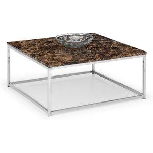 Oak Furniture Superstore Scala Square Bronze Marble Coffee Table Sca301, Brown