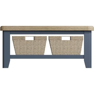 Oak Furniture Superstore Scarlett Coffee Table Scar Ct, Oak and Blue