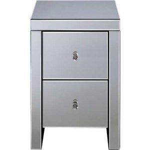 Oak Furniture Superstore Sevilla 2 Drawer Bedside In White Sev2bsmir, White