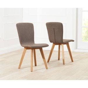Oak Furniture Superstore Tivoli Retro Fabric Brown Dining Chairs TIV FABRIC BROWN SINGLE, Brown