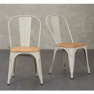 Oak Furniture Superstore Tolix Industrial Style Oak And Grey Dining Chairs Tolix Oakgrey 5531 18306, Oak and Grey