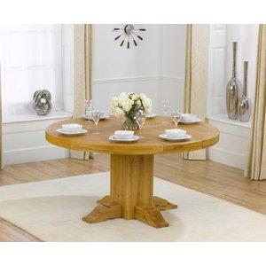 Oak Furniture Superstore Torino 150cm Oak Round Dining Table Pt37773, Oak