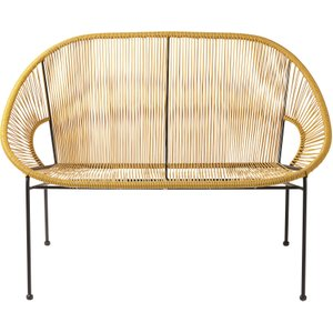 Maisons Du Monde Stackable 2/3-seater Garden Day Bed In Mustard Yellow Resin And Black Metal 3611871864751 Chairs, Yellow