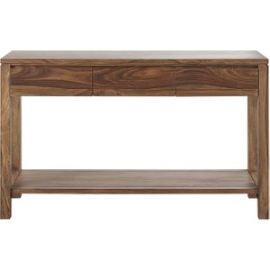 Maisons Du Monde 3-drawer Solid Sheesham Console Table 3611871960132 Tables, Brown