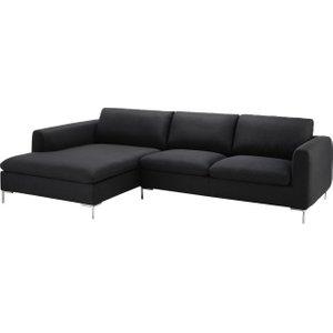 Maisons Du Monde 5-seater Fabric Left Hand Corner Sofa In Charcoal Grey City 3611871838035, Grey