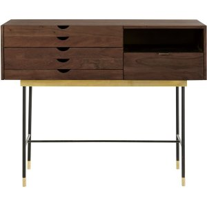 Maisons Du Monde Acacia And Metal 4-drawer Console Table Sterling 3611871883882 Tables, Brown