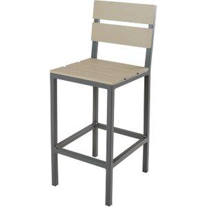 Maisons Du Monde Anthracite Grey Aluminium High Professional Garden Chair H110 Escale Pro 3611871805280 Garden & Leisure, Grey