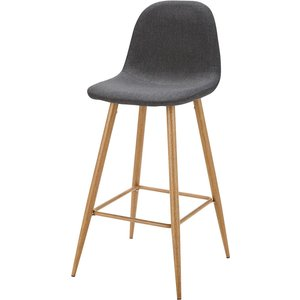 Maisons Du Monde Anthracite Grey Fabric Bar Chair Clyde 3611871747917 Chairs, Grey