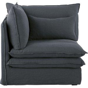 Maisons Du Monde Anthracite Grey Linen Corner Sofa Pompei 3611871878550 Sofas, Grey