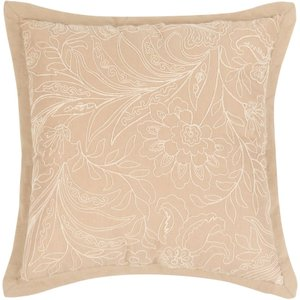 Maisons Du Monde Beige And Ecru Embroidered Cushion 45x45 3611872036324 Home Textiles, Beige