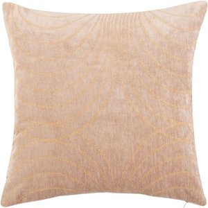 Maisons Du Monde Beige And Gold Embroidered Velvet Cushion Cover 40x40cm 3611872142940 Home Textiles, Beige