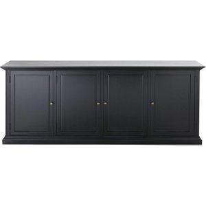 Maisons Du Monde Black 4-door Sideboard Cambronne 3611871874507