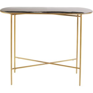 Maisons Du Monde Black And Gold Metal Console Table Maddie 3611871959655 Tables, Black