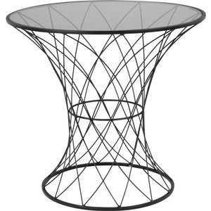 Maisons Du Monde Black Tinted Glass And Wire Side Table 3611872061586 Tables, Black