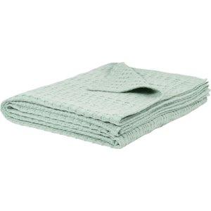 Maisons Du Monde Blue Patterned Cotton Throw 160x210 3611872060046 Home Textiles, Blue