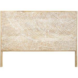 Maisons Du Monde Carved Solid Mango Wood Headboard W160 3611871869794 , Brown