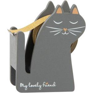 Maisons Du Monde Cat Sticky Tape Dispenser 3611871954544, Grey