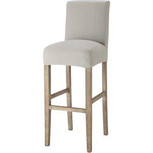 Maisons Du Monde Cotton Bar Chair Cover, Light Grey - Boston 3611871474158 Home Textiles, Grey