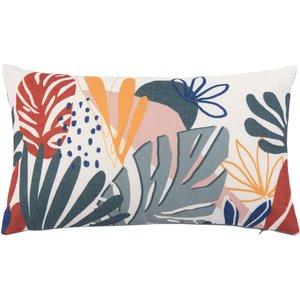 Maisons Du Monde Cushion Cover With Multicoloured Foliage Print 30x50cm 3611872143510 Home Textiles, Multicolour