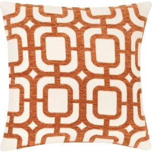 Maisons Du Monde Cushion Cover With Orange And White Graphic Print 40x40cm 3611872076764 Home Textiles, Orange