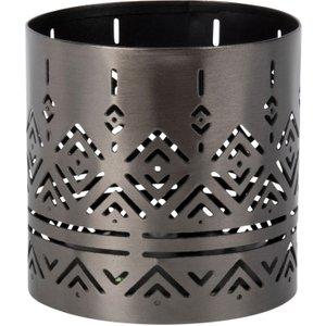 Maisons Du Monde Cut Out Black Metal Candle Holder 3611872035938 , Black