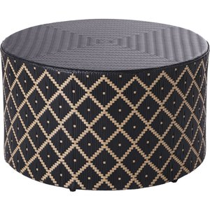 Maisons Du Monde Dual-tone Resin Cylindrical Garden Coffee Table 3611871988747 Tables, Black