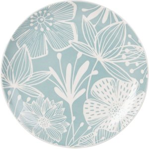 Maisons Du Monde Earthenware Dessert Plate With Blue And White Floral Print 3611871906284 Tables, Green