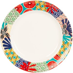 Maisons Du Monde Earthenware Dinner Plate With Multicoloured Motifs 3611872030391 , Multicoloured
