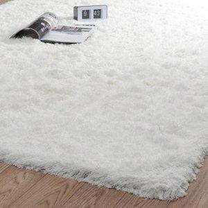 Maisons Du Monde Ecru Fabric Long Pile Rug 140 X 200cm 3611871316243 Home Textiles, White