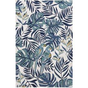Maisons Du Monde Ecru Polypropylene Outdoor Rug With Print 160x230 3611872002046 Home Textiles, White