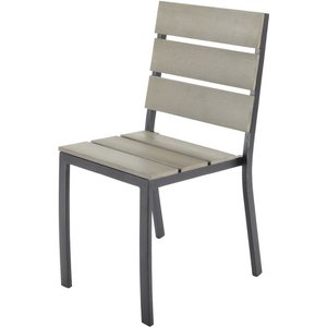 Maisons Du Monde Garden Chair In Aluminium And Composite 3611871470297, Grey