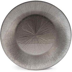 Maisons Du Monde Glitter Grey Glass Dessert Plate D 22 Cm 3611871544479 Tables, Grey