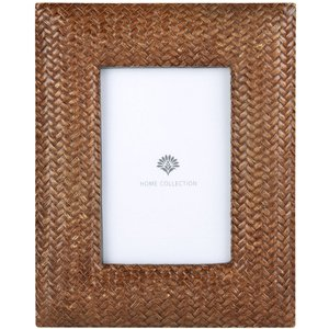 Maisons Du Monde Glossy Brown Photo Frame With Pattern 10x15 3611872027919, Brown