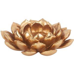 Maisons Du Monde Gold Flower Candle Holder 3611871844197, Gold