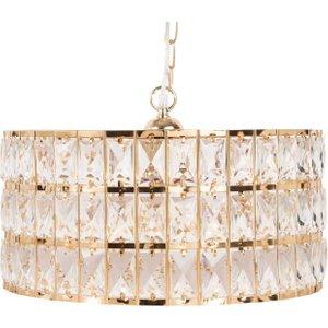 Maisons Du Monde Gold Metal And Rhinestone Pendant Light 3611871783885 , Gold