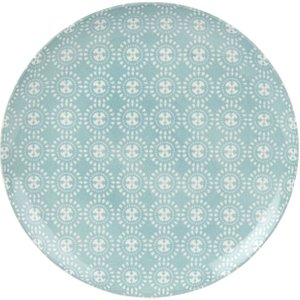 Maisons Du Monde Green Earthenware Dinner Plate With Graphic Print 3611871966530 Tables, Green