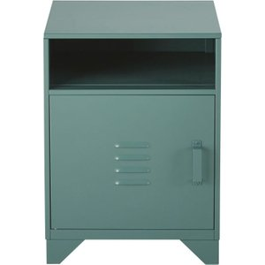 Maisons Du Monde Green Metal 1-door Bedside Table Safari 3611872059439 Tables, Green